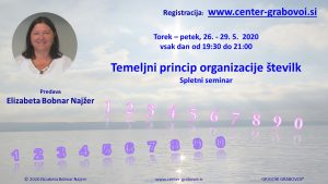 The basic principle of number organization @ Webinar, doma, for PC | Ljubljana | Slovenia