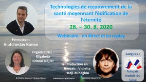 Health Recovery Technologies @ Webinar, in french translated from russo | Ljubljana | Slovenia