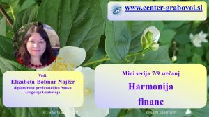 Harmonija financ @ webinar, slovenščina | Ljubljana | Slovenia
