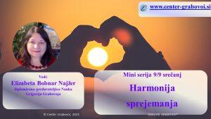 Harmonija sprejemanja @ webinar, slovenščina | Ljubljana | Slovenia
