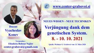 Verjüngung dank dem genetischen System @ webinar, Russisch und Deutsch | Ljubljana | Slovenia